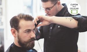 Barbearia Isac.com: Barbearia Isac.com – Águas Claras: corte de cabelo (opção com barba e selagem)