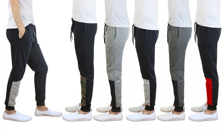Men's Heavyweight Fleece Joggers with Contrast Bottom