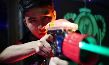 Three Games of Laser Tag or Blacklight Mini-Golf for Two or Four at Lazer Gate (Up to 46% Off)