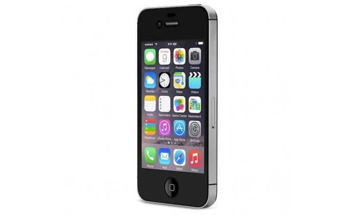 iphone 4s 16 go noir reconditionn groupon. Black Bedroom Furniture Sets. Home Design Ideas