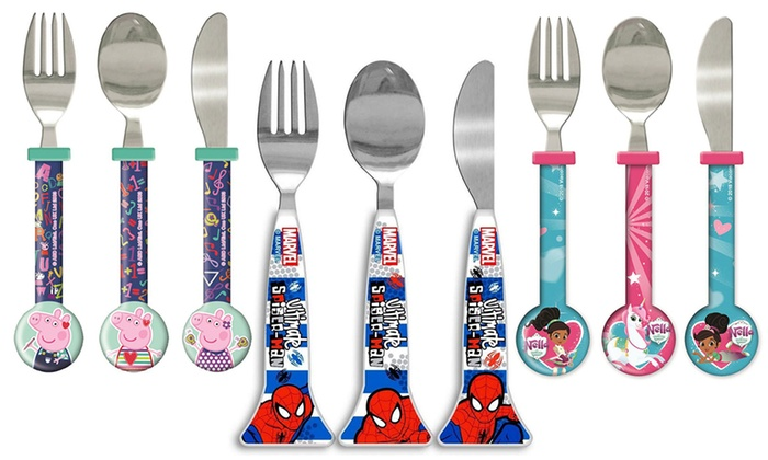Three-Piece Kids' Character Cutlery Set