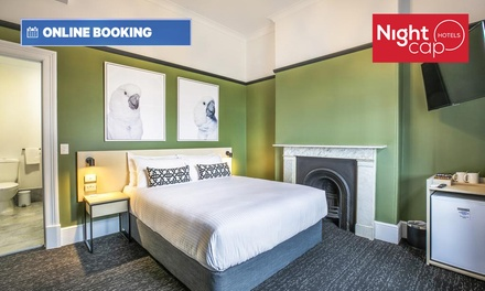 Port Adelaide: 1-3 Nights for Two with Brekky, Wine, Wi-Fi, Parking and Late Check-Out at Nightcap At Exeter Hotel