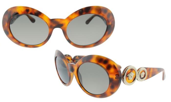 Versace Womens VE4329 Sunglasses Havana//Grey 53mm