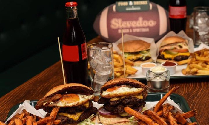 stevedoo burger sportsbar bis zu 33 rabatt frankfurt am main groupon. Black Bedroom Furniture Sets. Home Design Ideas