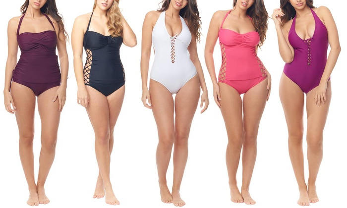 14fb0cef0c Up To 57% Off on Women's One-Piece Swimsuit | Groupon Goods