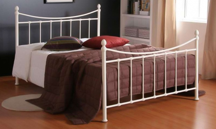 Victoriana Metal Bedframe with Optional Mattress