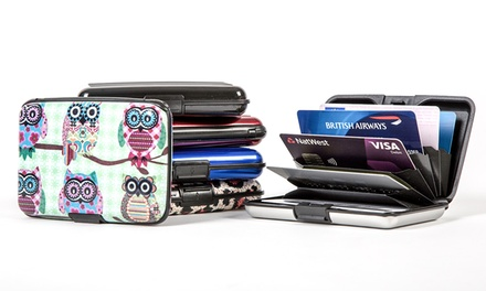 1, 2 oder 3 Aluminium-Brieftasche in der Farbe nach Wahl