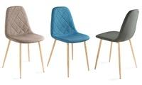 2er-, 4er- oder 6er-Set Homekraft Esstisch-Stuhl in Blau, Grau oder Taupe