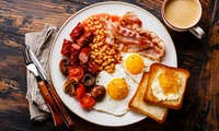 Full English Breakfast with Tea for Two or Four at Deli Continental 37 (Up to 34% Off)