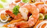 Mediterranes 2-Gänge-Menü mit 1 kg Scampi für Zwei oder Vier bei Nefeli im Phönix (bis zu 59% sparen*)