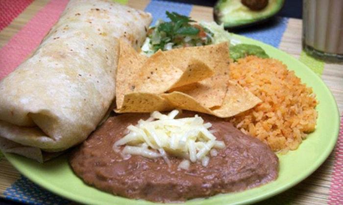 El Indio Mexicano Restaurant - Lake Balboa: Burrito Meal for Two or Four at El Indio Mexicano Restaurant in Northridge (Up to 57% Off)