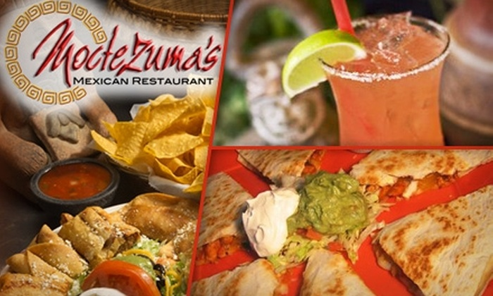 Moctezuma's Mexican Restaurant  - Multiple Locations: $15 for $30 Worth of Mexican Cuisine and Drinks at Moctezuma's Mexican Restaurant