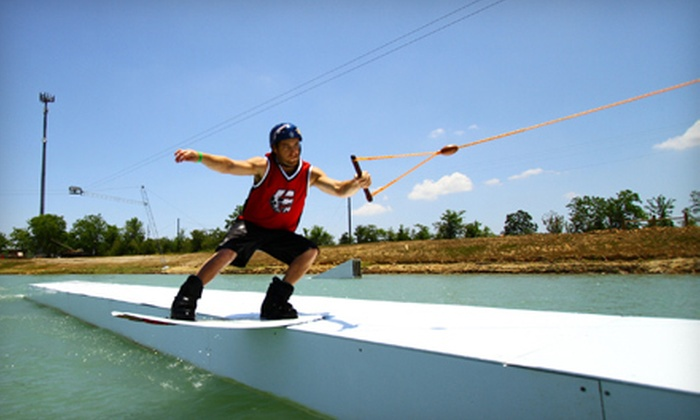 Wake Nation Houston - Alvin-Pearland: Two-Hour or Full-Day Wake Boarding or Water-Sport Outing with Equipment Rental at Wake Nation Houston in Rosharon (Up to 58% Off)