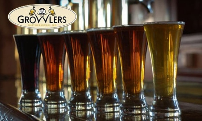 Growlers in Gaithersburg - Gaithersburg: $15 for $30 Worth of Pub Fare, Beers, and More at Growlers in Gaithersburg