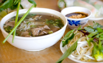 VN Pho Vietnamese Restaurant: 2 Egg- or Spring-Roll Appetizers, 2 Medium Noodle Soups, and 2 Bubble Teas - VN Pho Vietnamese Restaurant in Morrow