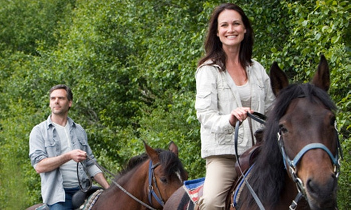 Equine Boulevard - Agawam Town: $65 for a Romantic Horseback Ride for Two with Hot Cocoa and Campfire from Equine Boulevard in Agawam ($150 Value)
