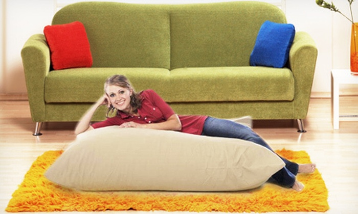Oversize Pillow Chair: $65 for a 4'x5' Large RelaXer Twill Pillow Chair from Xorbee ($149 Value). Four Colors Available.