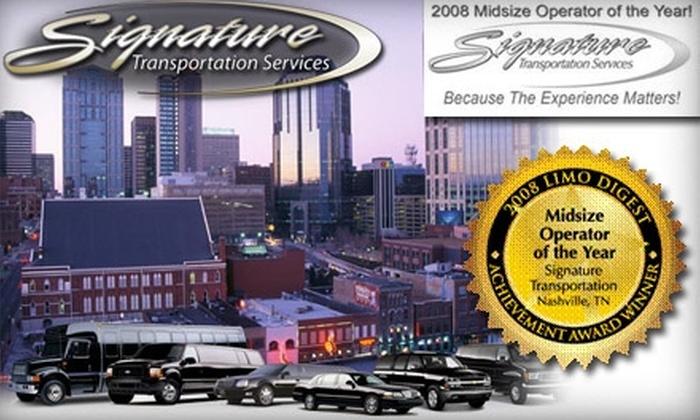Signature Limousine Service - Nashville: $40 for $100 Worth of Any Chauffeured Service at Signature Limousine Service