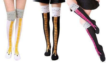 Chicken Leg Knee-High Socks