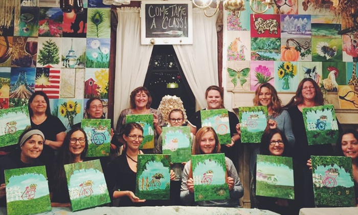 The Green Lace Lion - Allentown: Painting-Class Admission for One, Two, or Four Classes for One Person at The Green Lace Lion (Up to 28% Off)