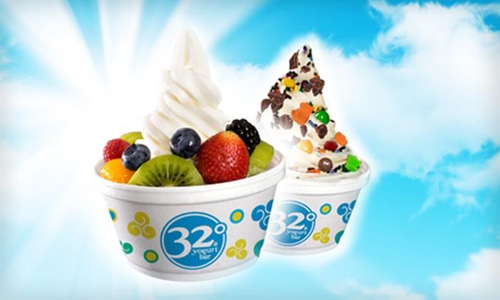 32 Degrees A Yogurt Bar - Augusta Street Area: $6 for $12 Worth of Self-Serve Frozen Yogurt at 32 Degrees A Yogurt Bar