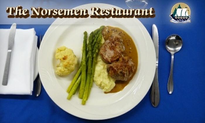 The Norsemen Restaurant - Huntsville: $25 for $55 Worth of Fine Dining and Drinks at The Norsemen Restaurant