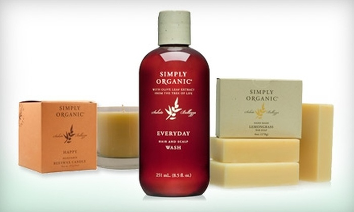 Simply Organic: $25 for $50 Worth of Skin- and Haircare Products Plus Complimentary Lip Balm from Simply Organic ($57 Value)