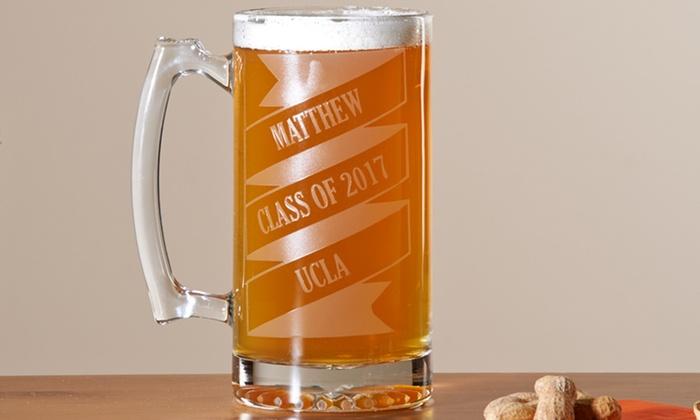 personalized oversized beer mug groupon goods