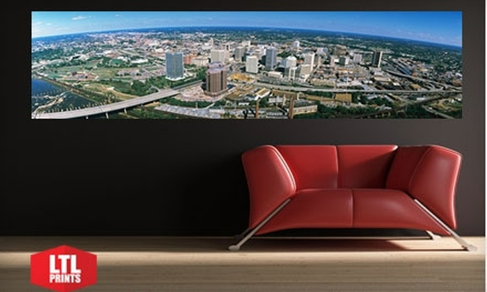 """Larger Than Life Prints: $35 for a """"Big Wall Graphic"""" Panoramic Cityscape Wall Mural from LTL Prints ($84 Value)"""