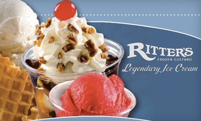 Ritter's Frozen Custard - Pleasant: $5 for $10 Worth of Ice Cream at Ritter's Frozen Custard