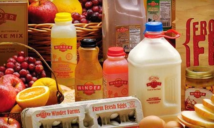 Winder Farms: $20 for $50 Worth of Home-Delivered Groceries With Signup and Delivery Fees Included from Winder Farms ($68 Value)
