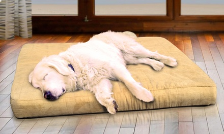 Quilted Suede Memory Top Pet Bed