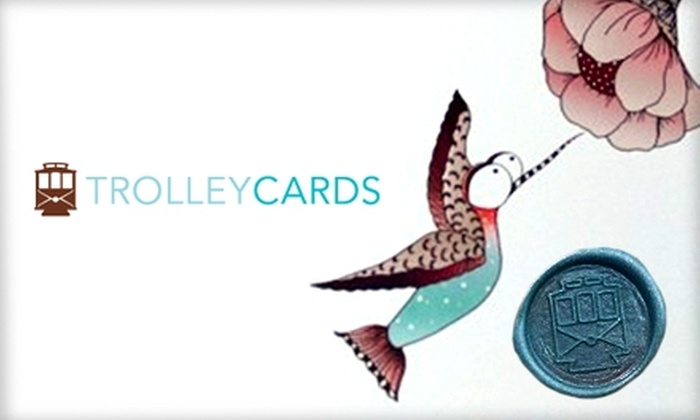 TrolleyCards - Phoenix: $12 for Five Greeting Cards from TrolleyCards ($24.75 Value)