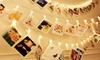 1x oder 2x 1,5 m oder 3 m LED-Lichterkette mit Fotoclips