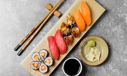 Sushi, sashimi, tempura e vino