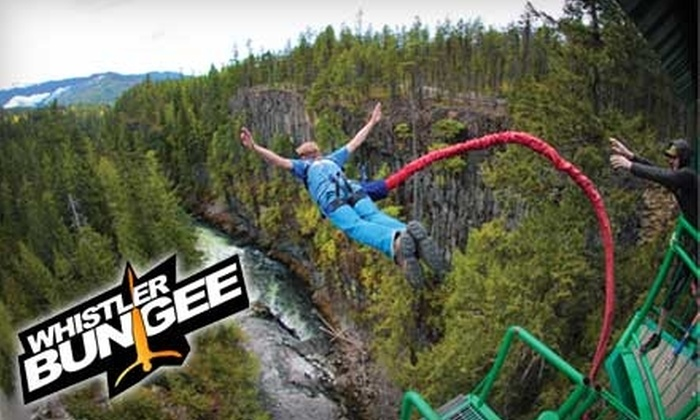 Whistler Bungee - Whistler: $65 for One Bungee Jump, Plus T-shirt, at Whistler Bungee ($130 Value)