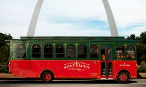 St. Louis Carriage & Trolley Company: 60-Minute Trolley Tour for Two, Four, or Six from St. Louis Carriage & Trolley Company (Up to 67% Off)