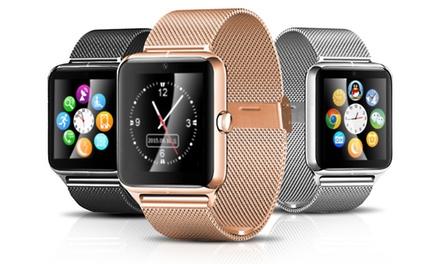 Edelstahl-Smartwatch mit Kamera in Schwarz, Silber oder Gold inkl. Versand (Koln)