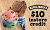 FINAL DAYS $10 Toward Ice Cream or Brownies