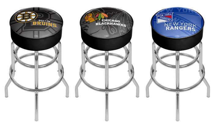 Astounding Up To 72 Off On Nhl Bar Stools Or Pub Tables Groupon Goods Machost Co Dining Chair Design Ideas Machostcouk