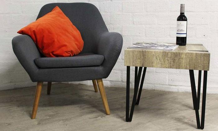 Jusqu 39 51 table de salon de style industriel groupon - Table de salon style industriel ...