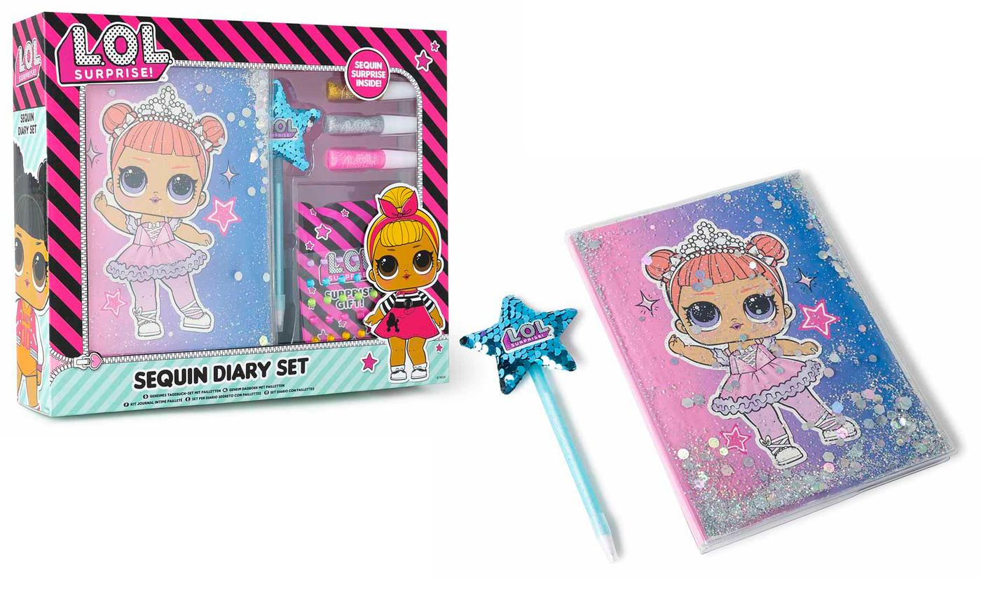 One or Two RMS L.O.L. Surprise! Decorate Your Own Sequin Diary Sets