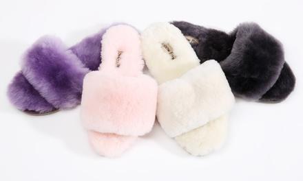 Women's Sheepskin Spa Slippers