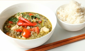 Jasmine Thai: Two-Course Thai Meal with Prawn Crackers for Two or Four from Jasmine Thai (Up to 48% Off)