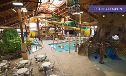 groupon daily deal - Stay with Daily Water-Park Passes at Timber Ridge Lodge & Waterpark in Lake Geneva, WI. Dates into May Available.
