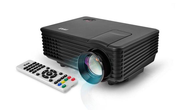 "Compact Digital Multimedia Projector with 1080p HD Support and Up to 80"" Projection"