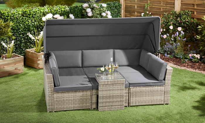 California Canopy Rattan-Effect Daybed with Optional Cover