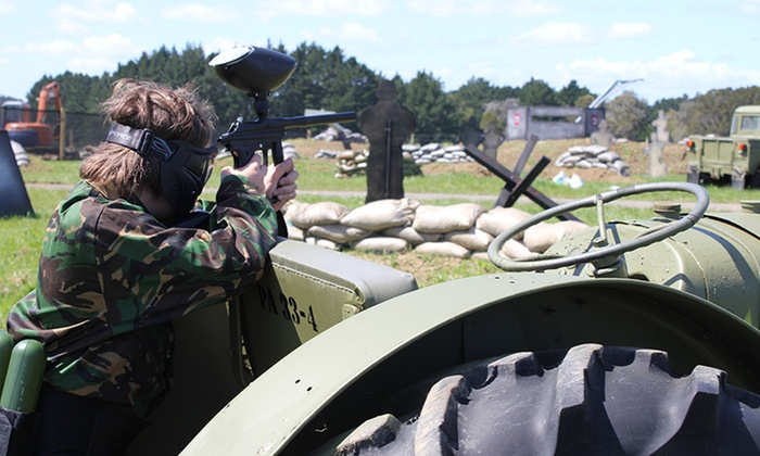 Lock n Load Paintball - Lock n Load Paintball: From $25 for a Sunday Paintball Package with 200 Paintballs for One Child at Lock n Load Paintball (from $35 Value)