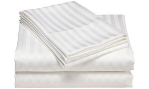 600-Thread-Count Stripe Sheet Set
