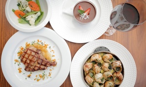 La Grillade: $69 for Three-Course French Dining with Wine for Two People at La Grillade, Crows Nest (Up to $176 Value)